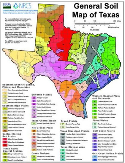 Soil Map Of Texas
